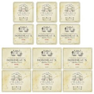 Pimpernel Vin De France Six Placemats & Coasters
