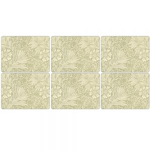 Pimpernel Marigold Green Six Placemats & Coasters