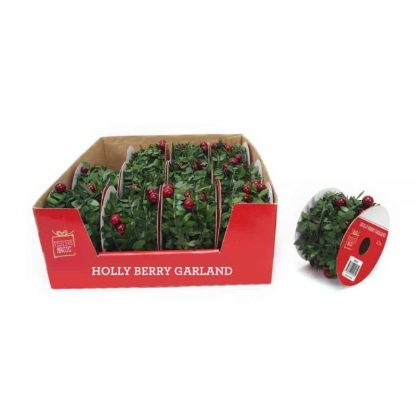 Holly and Berries Garland 2.7M