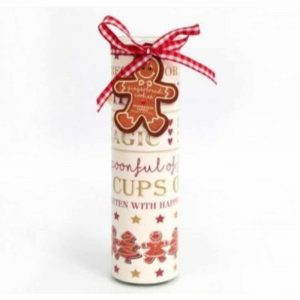 Gingerbread Tube Candle 6x20cm
