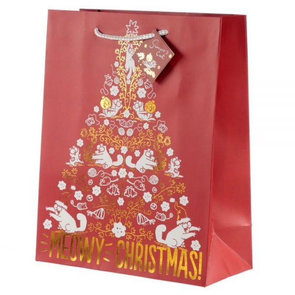 Simons Cat Christmas Gift Bag Large
