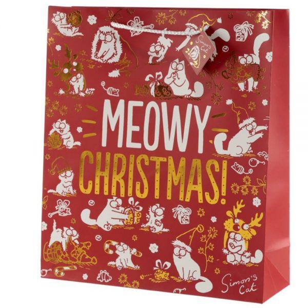Simons Cat Christmas Gift Bag Extra Large