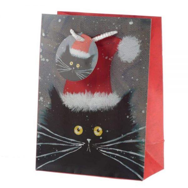 Kim Haskins Christmas Cats Gift Bag Medium