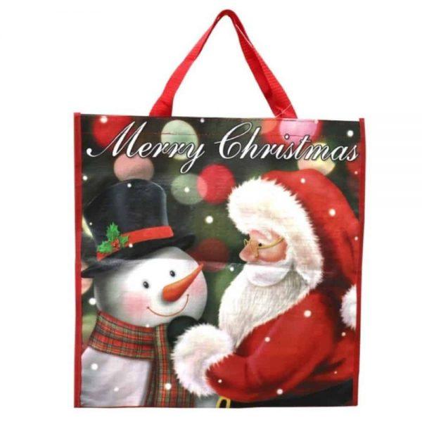 Santa Shopper Bag Plastic 44x45cm