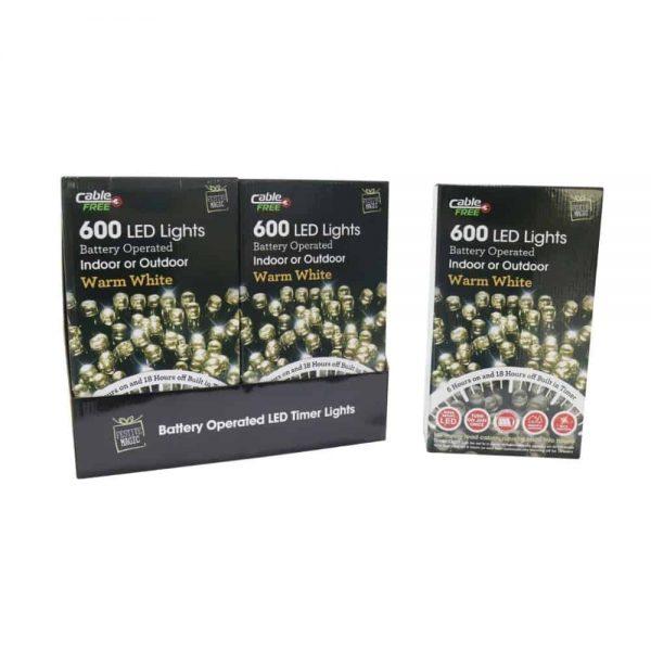 Led Lights 600 B/O Timer Warm White