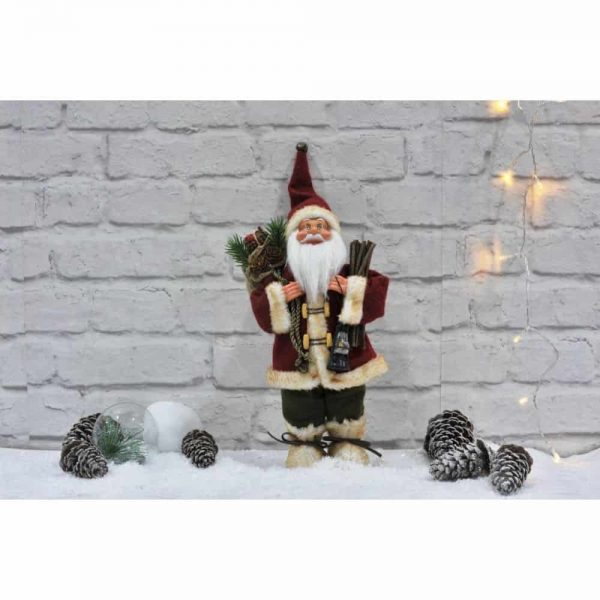 Nordic Santa 30cm Holding Sticks and Lantern