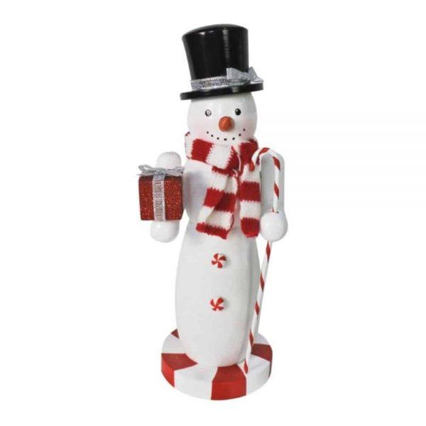 Nutcracker Snowman 25cm Glitter