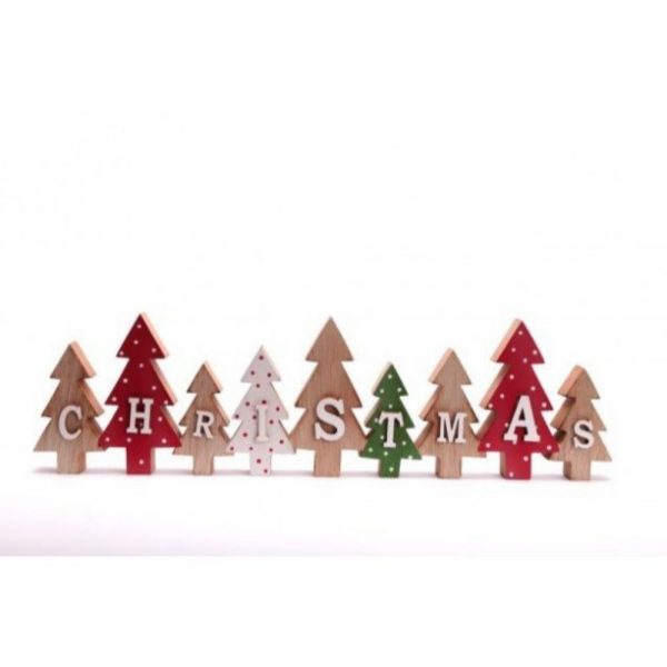 9 Piece Trees With Christmas W: 40cm H: 11cm