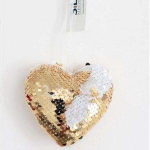 Gold Sequin Heart 9cm