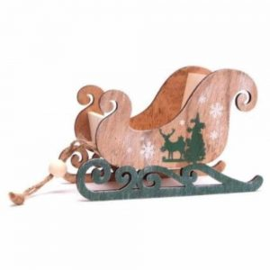 Wooden Sled Decoration 18cm
