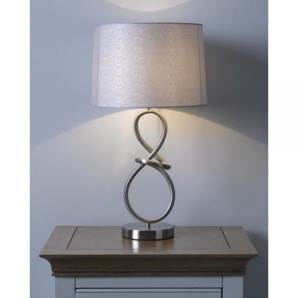 Metal Table Lamp & Shade 56x30.5cm