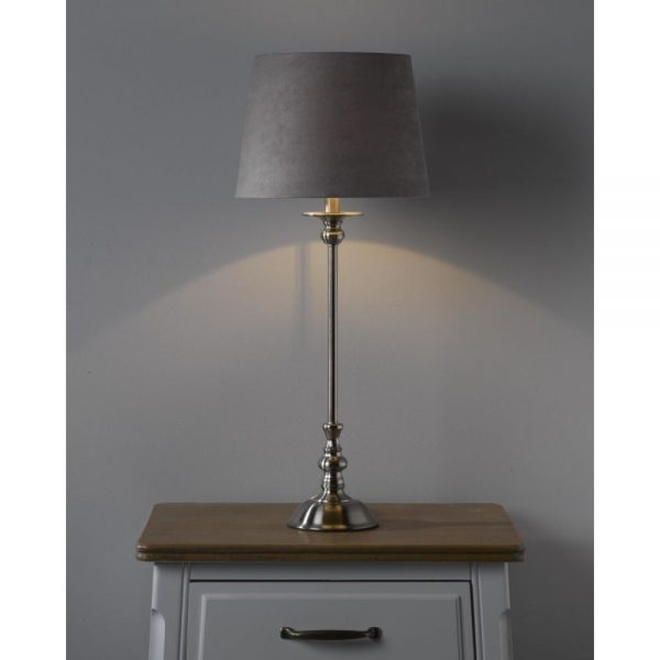 Silver Table Lamp Shade 60x26cm