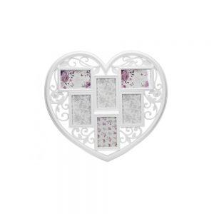 White Heart 6 Photo Gallery Frame