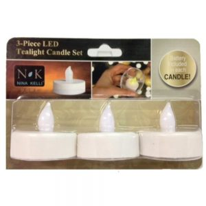 3 White LED Tea Lights