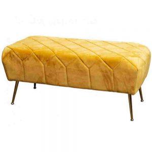 Mustard Velvet Bench