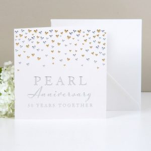 Amore Deluxe Card Pearl Anniversary