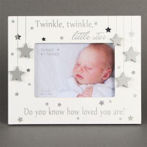5x3½in Twinkle Twinkle Silver Star Photo Frame