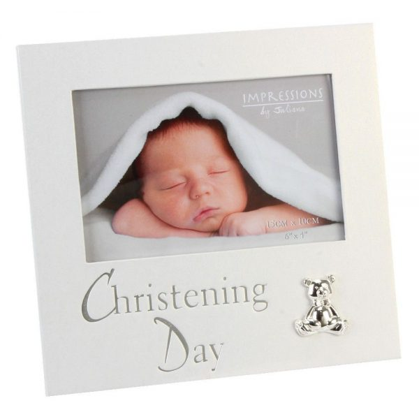 Christening Pearlised Photo Frame 6×4
