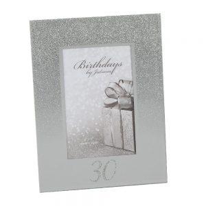 Glitter Mirror Frame 4X6 - 30th Birthday