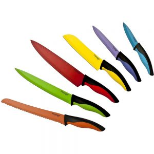 Prestige Colour 6 Piece Non-Stick Knife Set