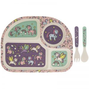 Unicorns Bamboo Eating Set