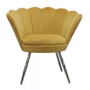 Shell Velvet Chair Mustard
