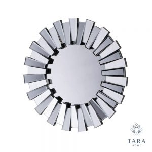 Link 3d Round Mirrored Frame Mirror