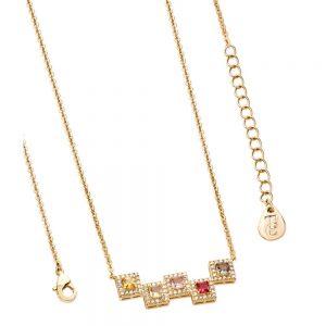 Tipperary Crystal Summer Blocks Necklace