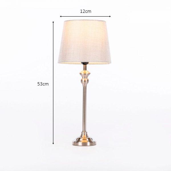 Dani Mini Buffet Lamp Silver & Grey Height 53cm