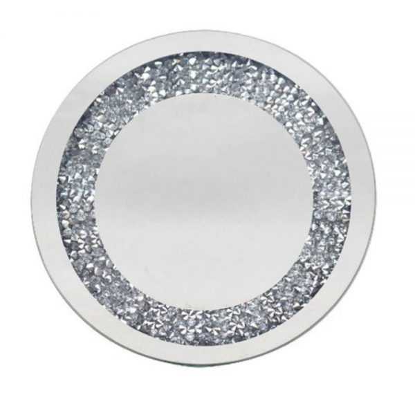 Multi Crystal Candle Plate 15cm