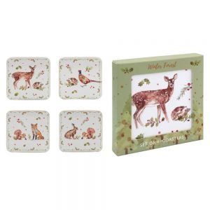 Winter Forest Set of 4 Coasters