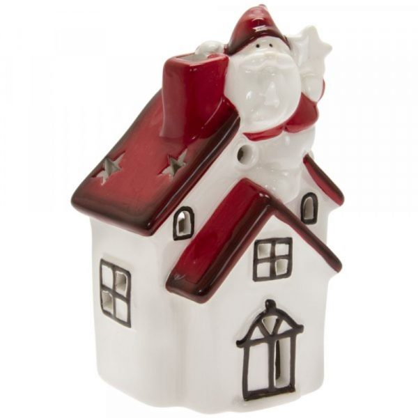 LED House Red and White 14x7cm