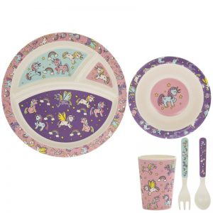 Bamboo Eating Set Unicorns