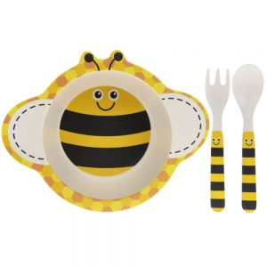 Bamboo Bee Eating Set