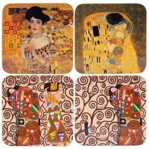 Klimt Coasters Set of 4