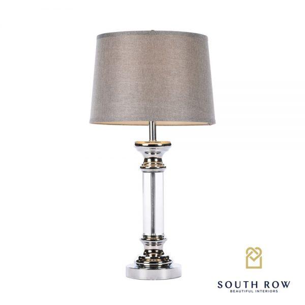 Arista table lamp textured grey shade