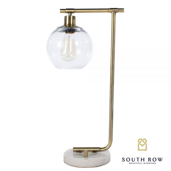 Marble & Gold Globe Table Lamp