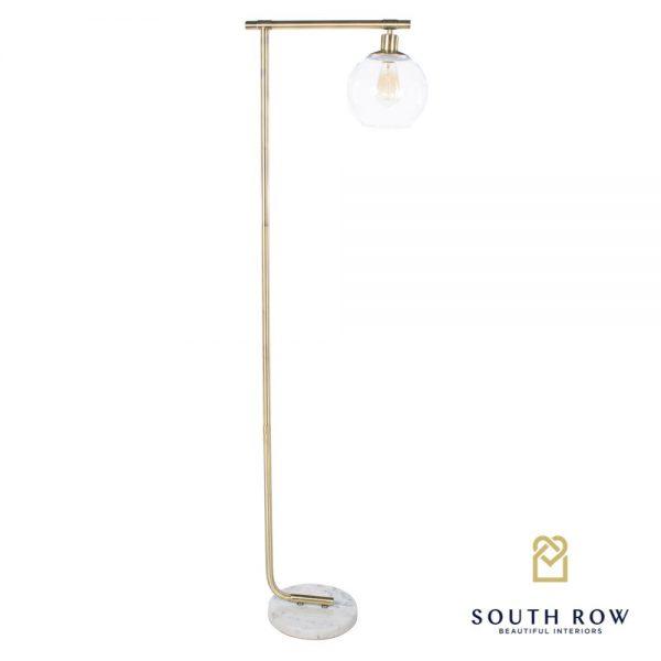 Marble & Gold Globe Floor Lamp