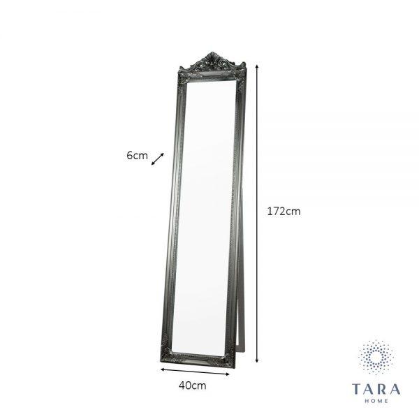 Silver Cheval Mirror