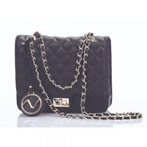 Giorgia Quilted Black Shoulder Bag