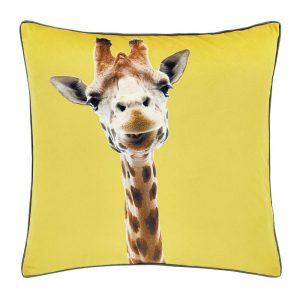 Catherine Lansfield Yellow Giraffe Filled Cushion
