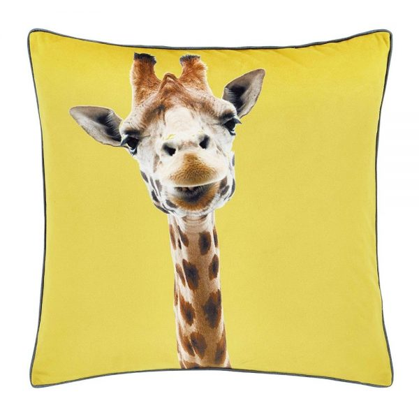 Catherine Lansfield Yellow Giraffe Filled Cushion
