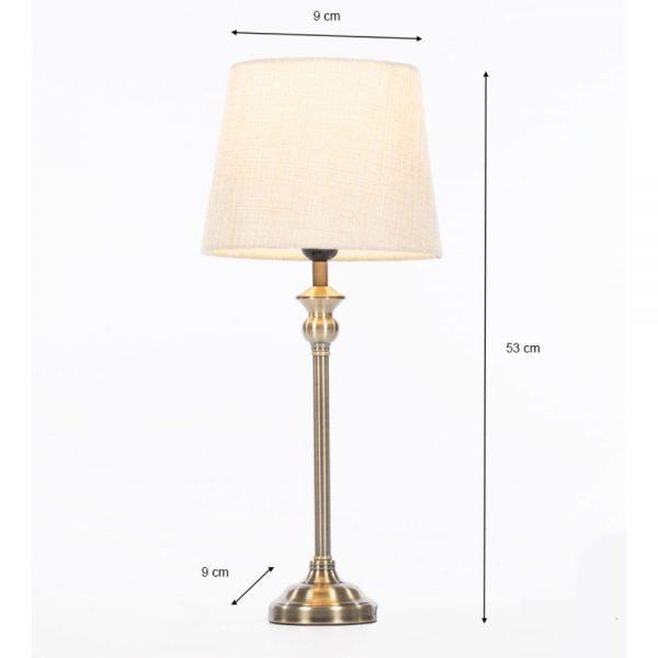 Dani Mini Buffet Lamp Bronze Height 53cm