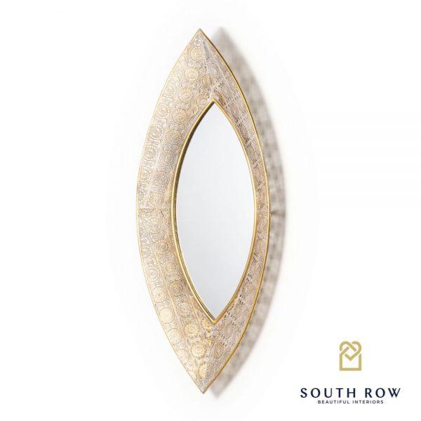 Amira Leaf Mirror Gold