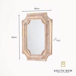 Amira Inverse Corner Gold Mirror