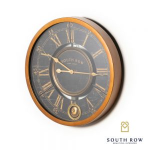 South Row Wall Clock With Gold Frame