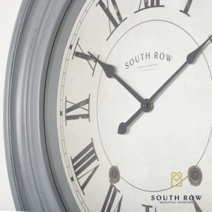 Hamilton Clock Distressed Grey 66cm