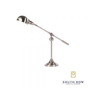Satin Silver Desk Lamp