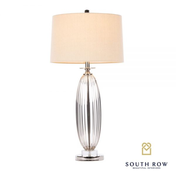 Cleo Ribbed Satin Table Lamp