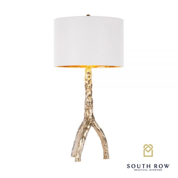 Tree Gold Table Lamp Reflective Gold Inner Shade